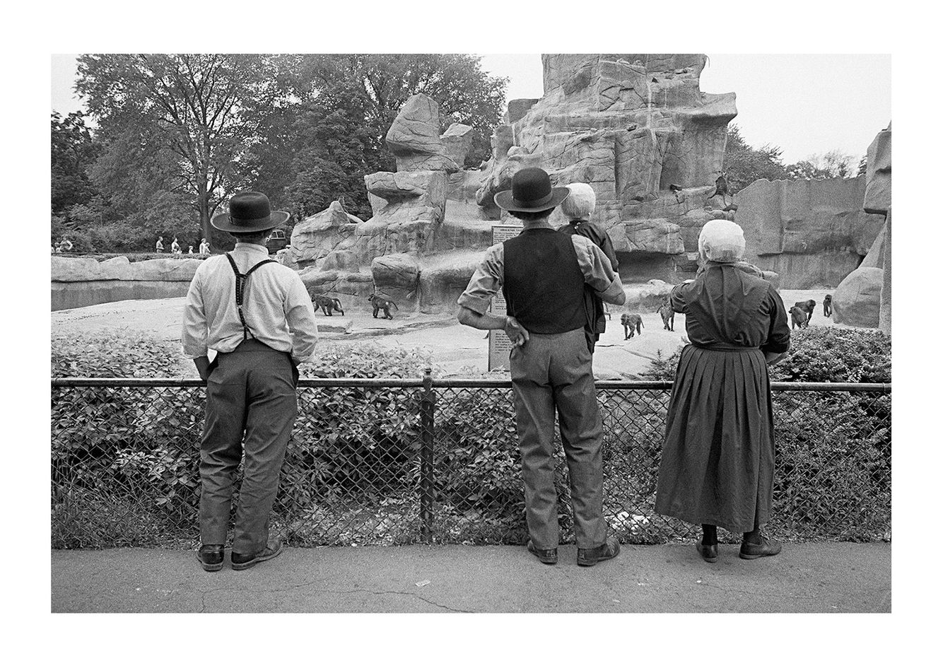Amish Family Visiting the Detroit Zoo, Detroit 1972