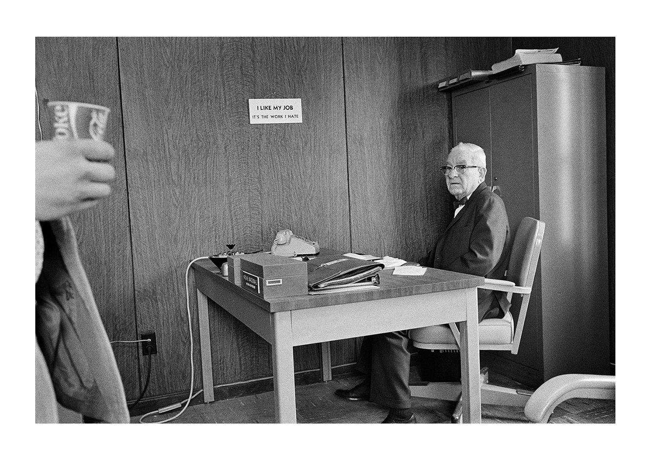 Man at His Desk, Detroit 1972