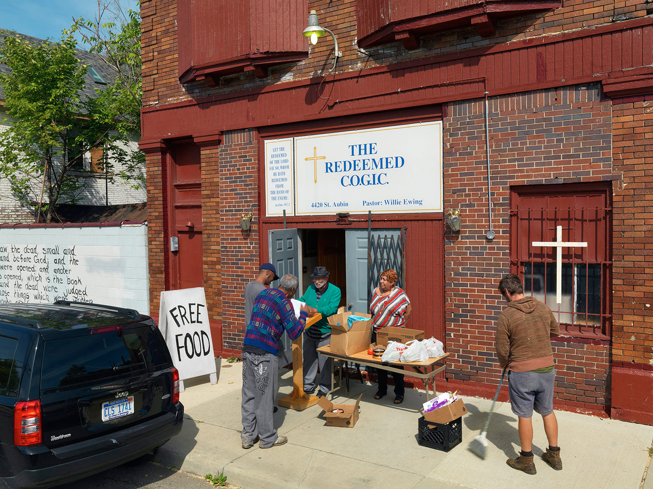 Free Food Give Away, Poletown, Detroit 2014
