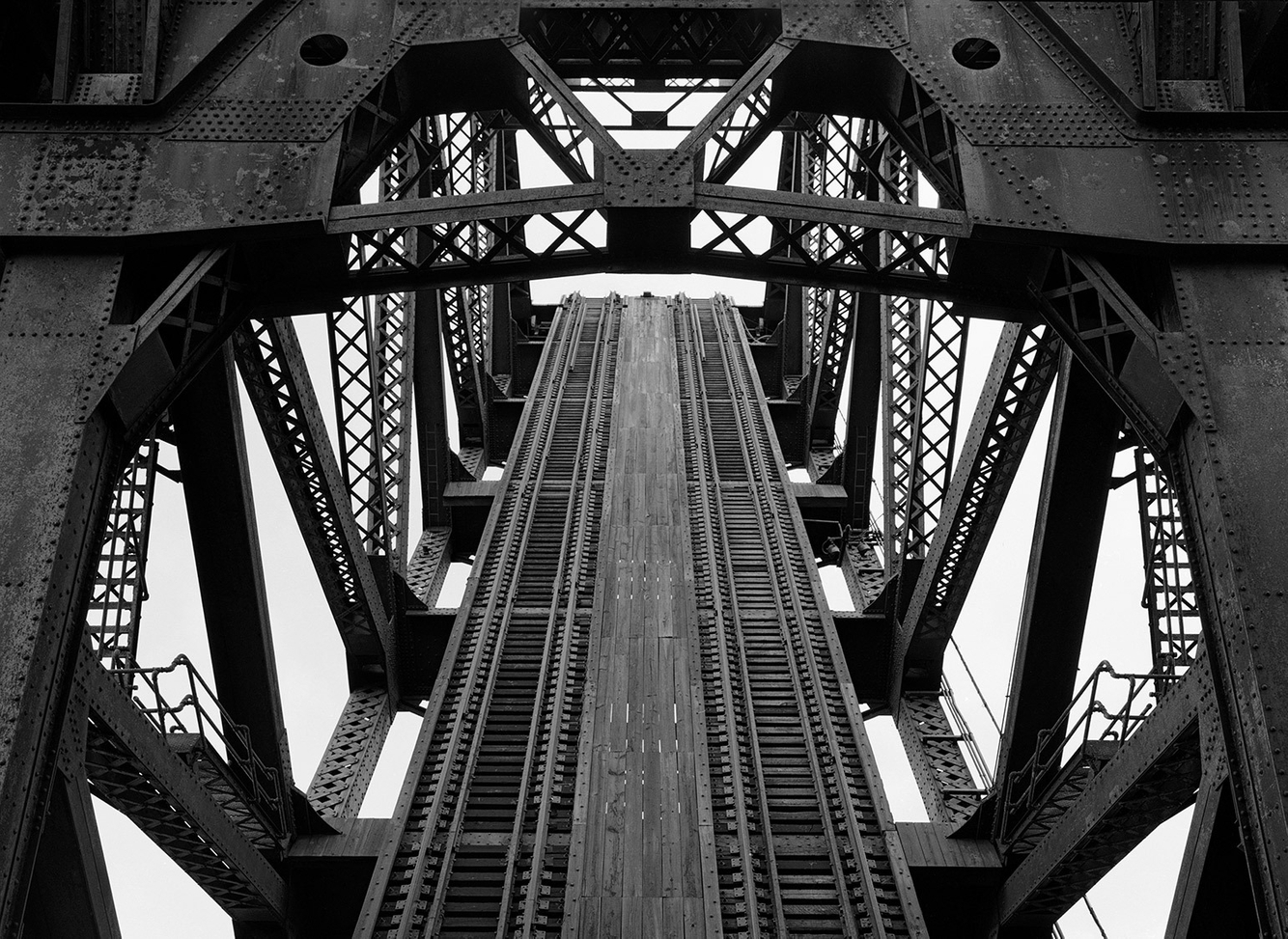 Tracks and Framework, Raised Position, 18th St. Railroad Bridge, Chicago 2001