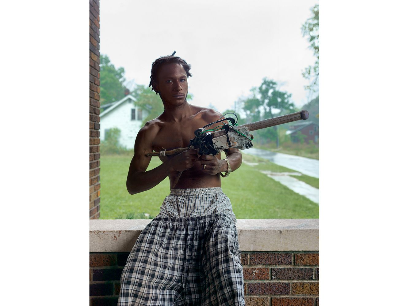 Los with His Harmless Weapon, Robinwood Street, Detroit 2014