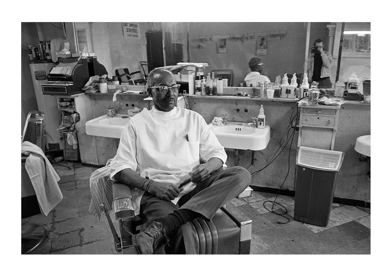 Hillard Collins, Supreme Barbershop, 3807 W. Warren, Detroit 1972