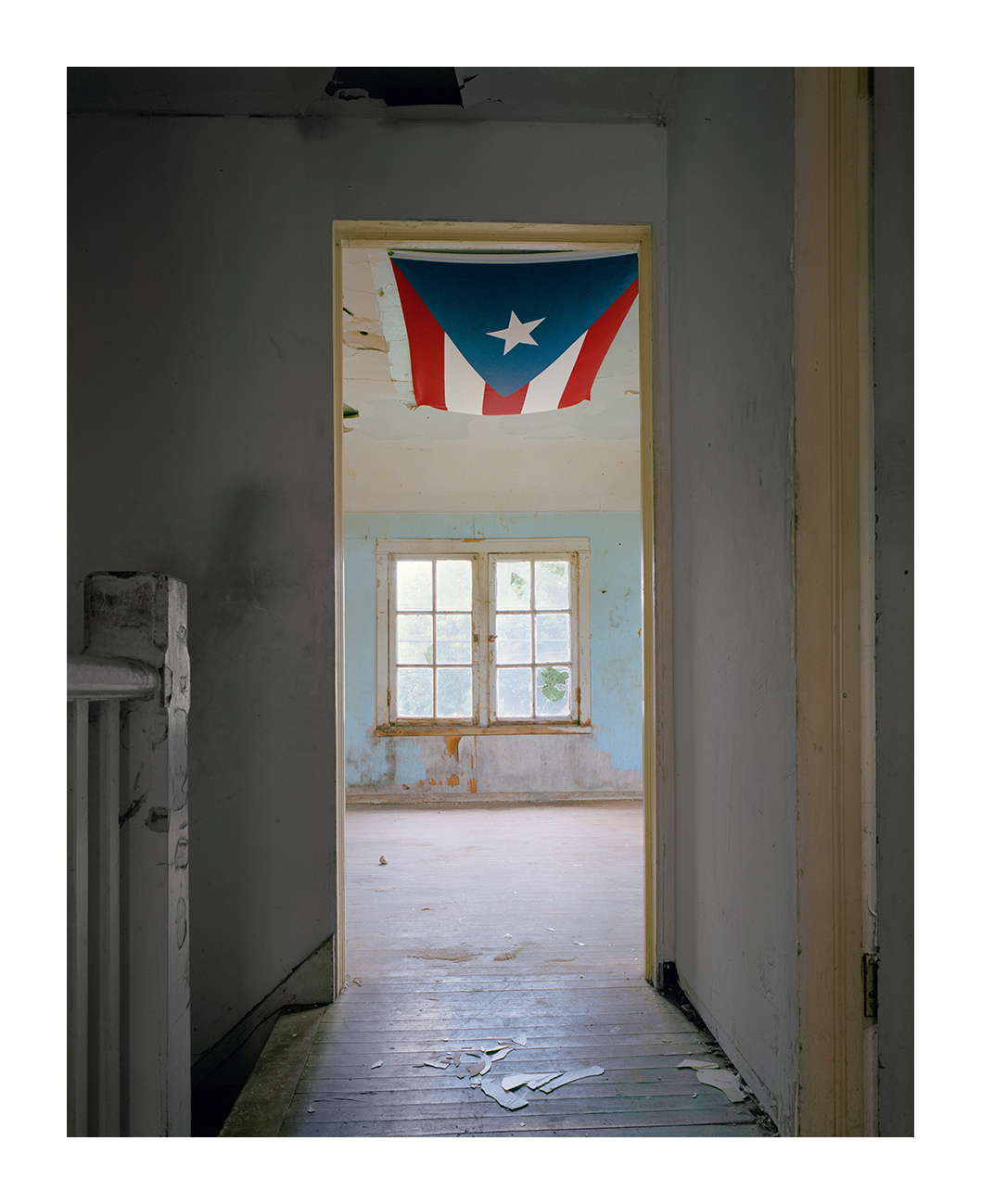 Flag on Ceiling, Abandoned House, Marktown, East Chicago IN 2003