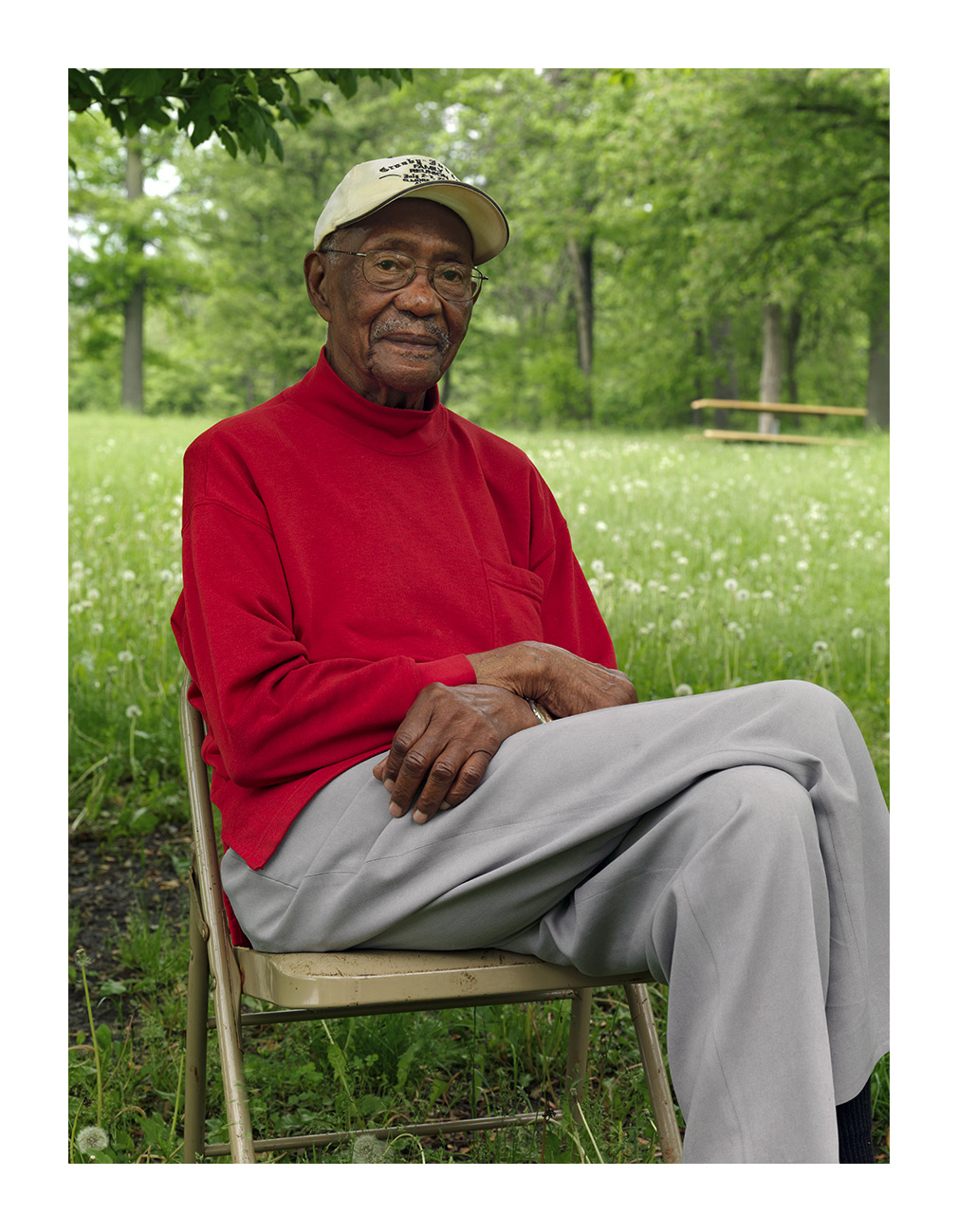 George, an 89 Year Old Retired Chrysler Worker Picnicing in Belle Isle Park, Detroit 2011