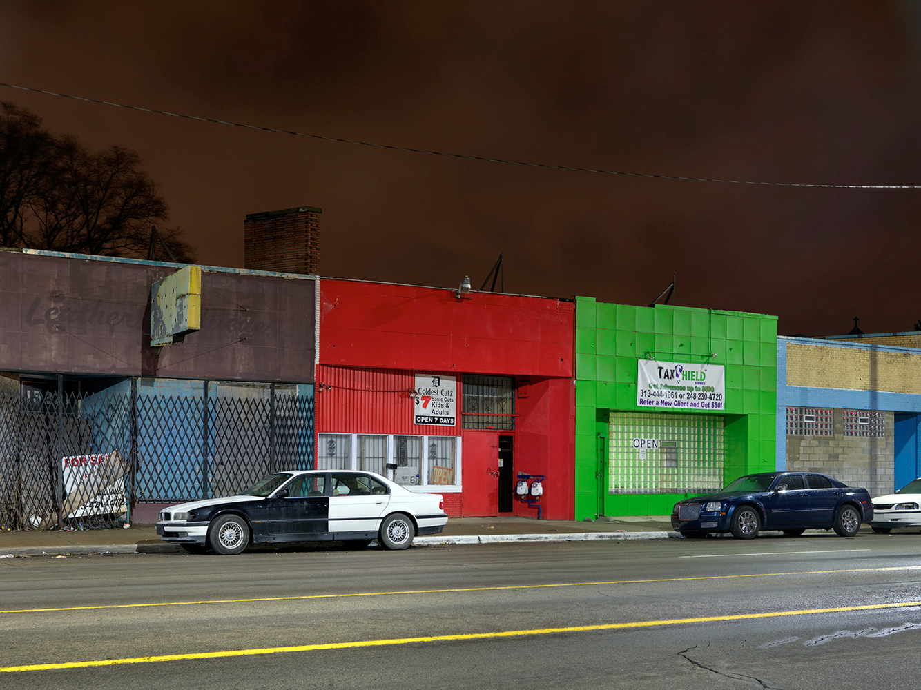 Storefronts, Greenfield Road, Detroit 2016