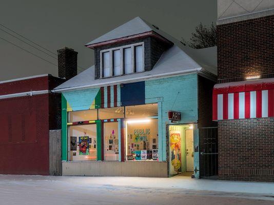 Art, Public Pool, Hamtramck, (Detroit) 2019
