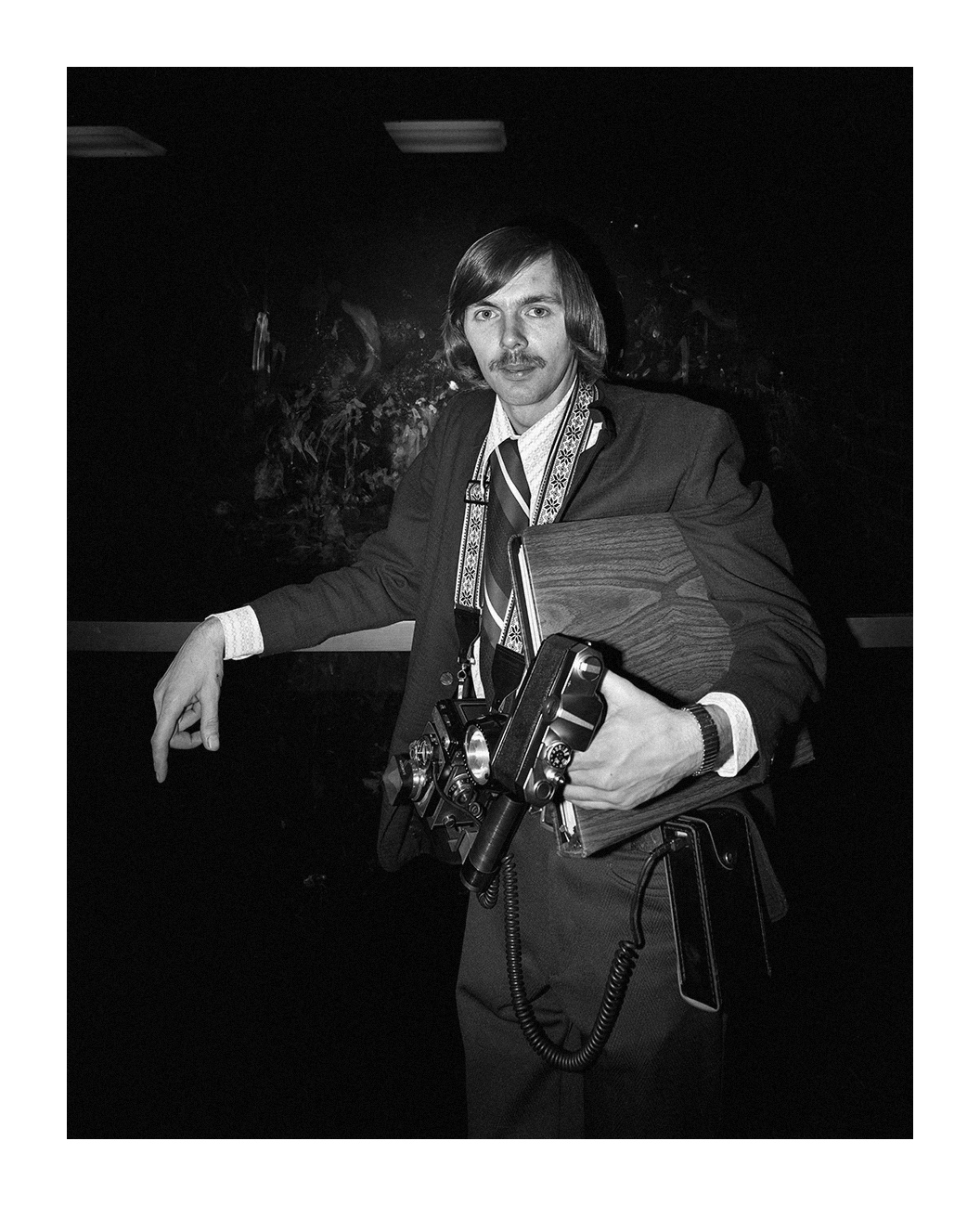 A Freelance Fashion Photographer at the Detroit Auto Show, Detroit, 25 Nov. 1973