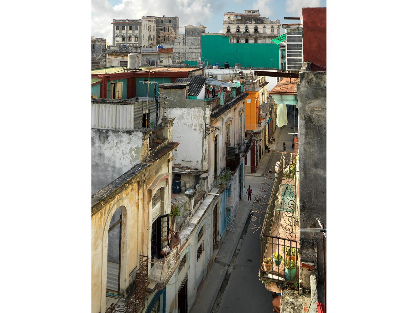 Man on the Balcony, Campanario Street, Centro Havana, Cuba 2016
