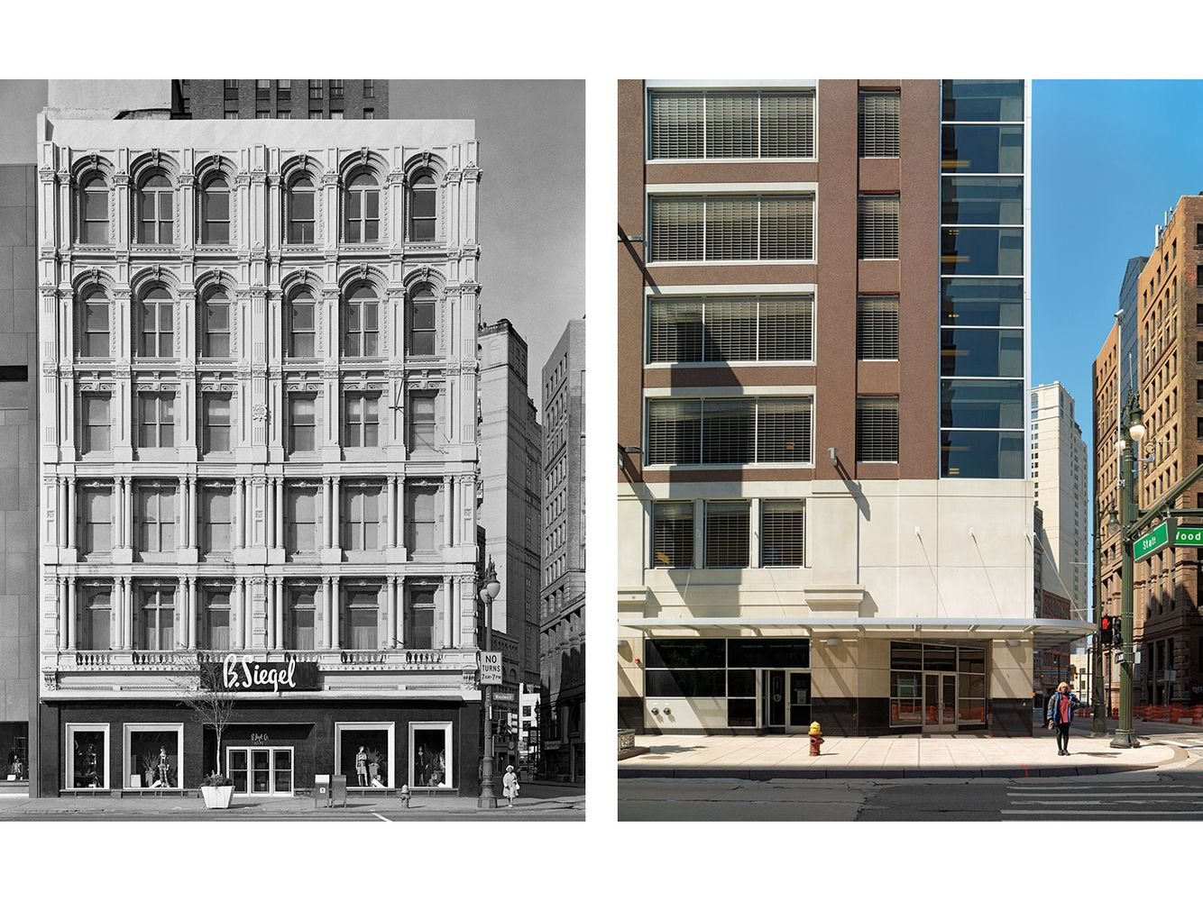 Corner of State St. and Woodward Avenue, Detroit 1973-2010