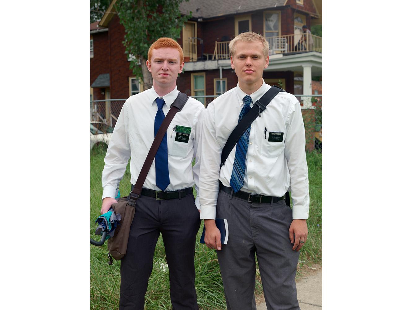 Two Mormon Missionaries,  Southwest Side, Detroit 2014