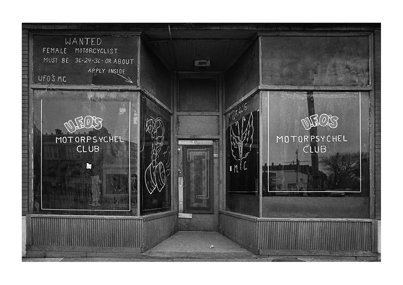 Private Motorcycle Club Entrance, Detroit 1972