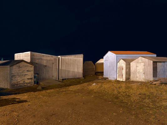 Beach Sheds at Night, Iqaluit, Canada 2016