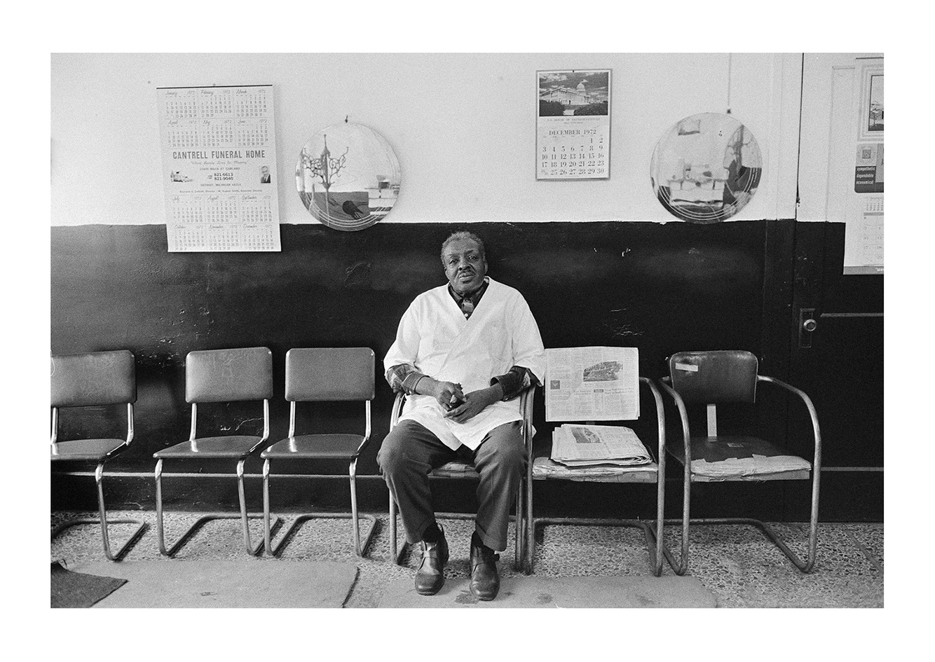 Barber in His Shop, Detroit 1972