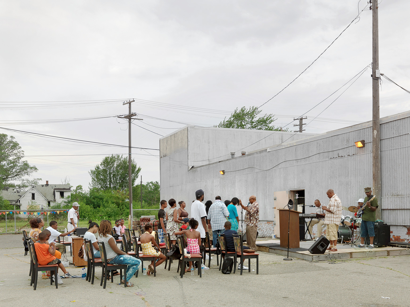 Outdoor Church Service, Eastside, Detroit 2010