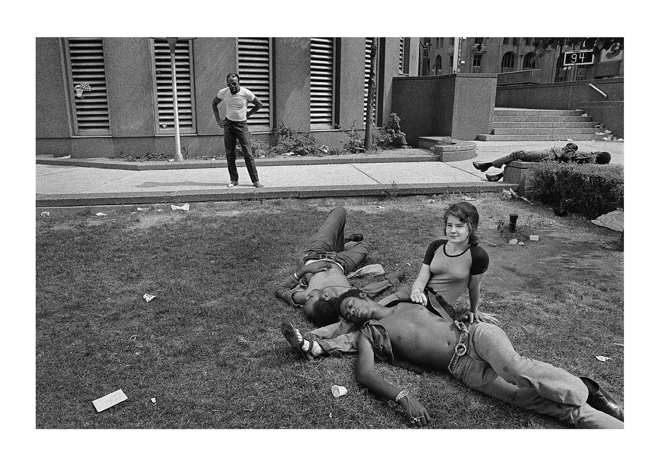 Bi-racial Couple in Park, Detroit 1972