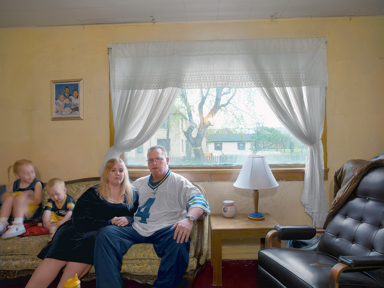 Jack & Cherie in Their Livingroom, Marktown, East Chicago, IN 2003