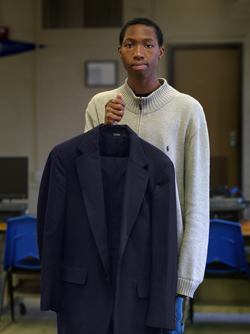 Young Man Who Received a Free Suit, Southwest Side, Detroit 2014
