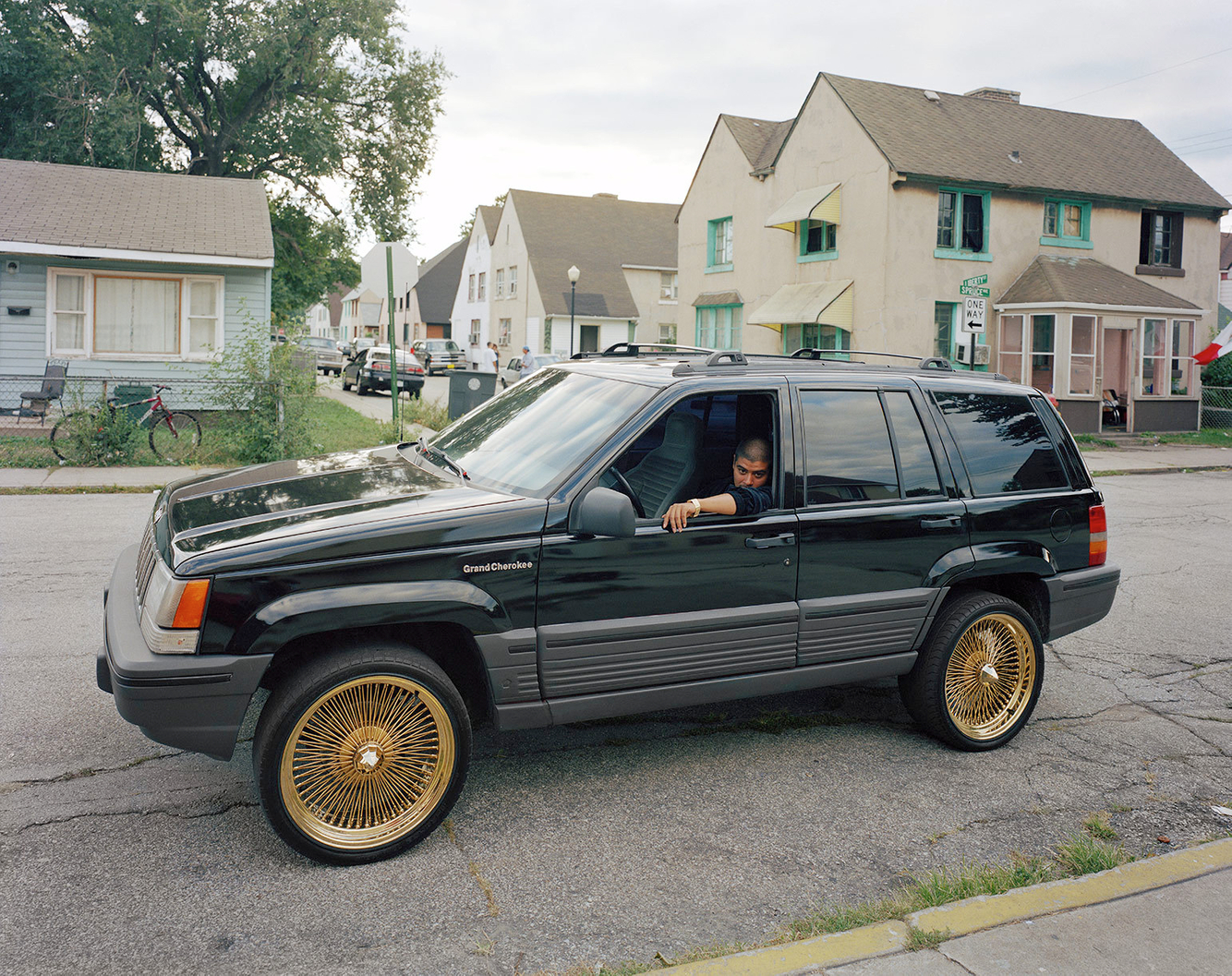 David in His New Jeep, Marktown, East Chicago IN 2003