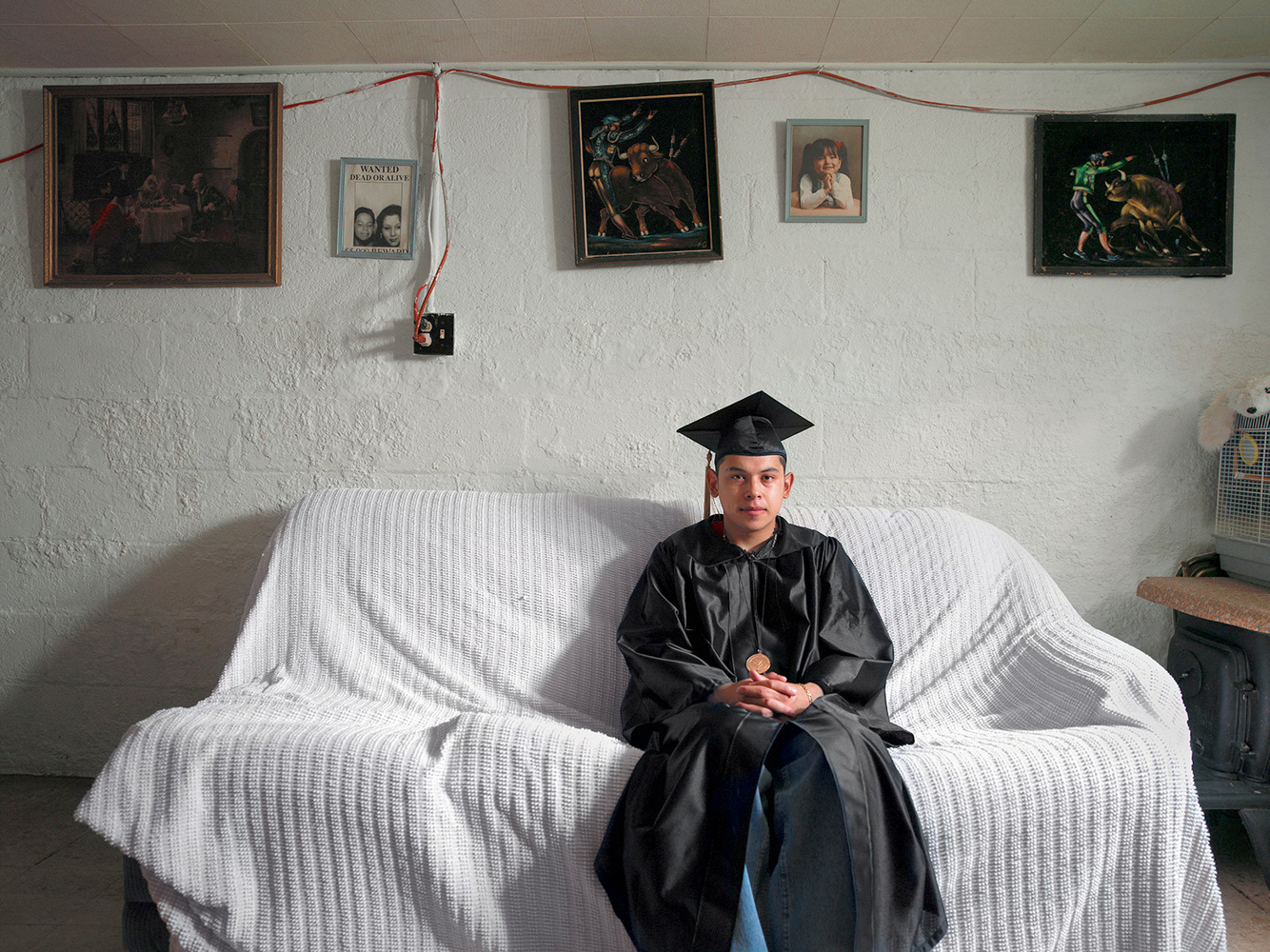 Jason in His Graduation Gown, Marktown, East Chicago, IN 2003