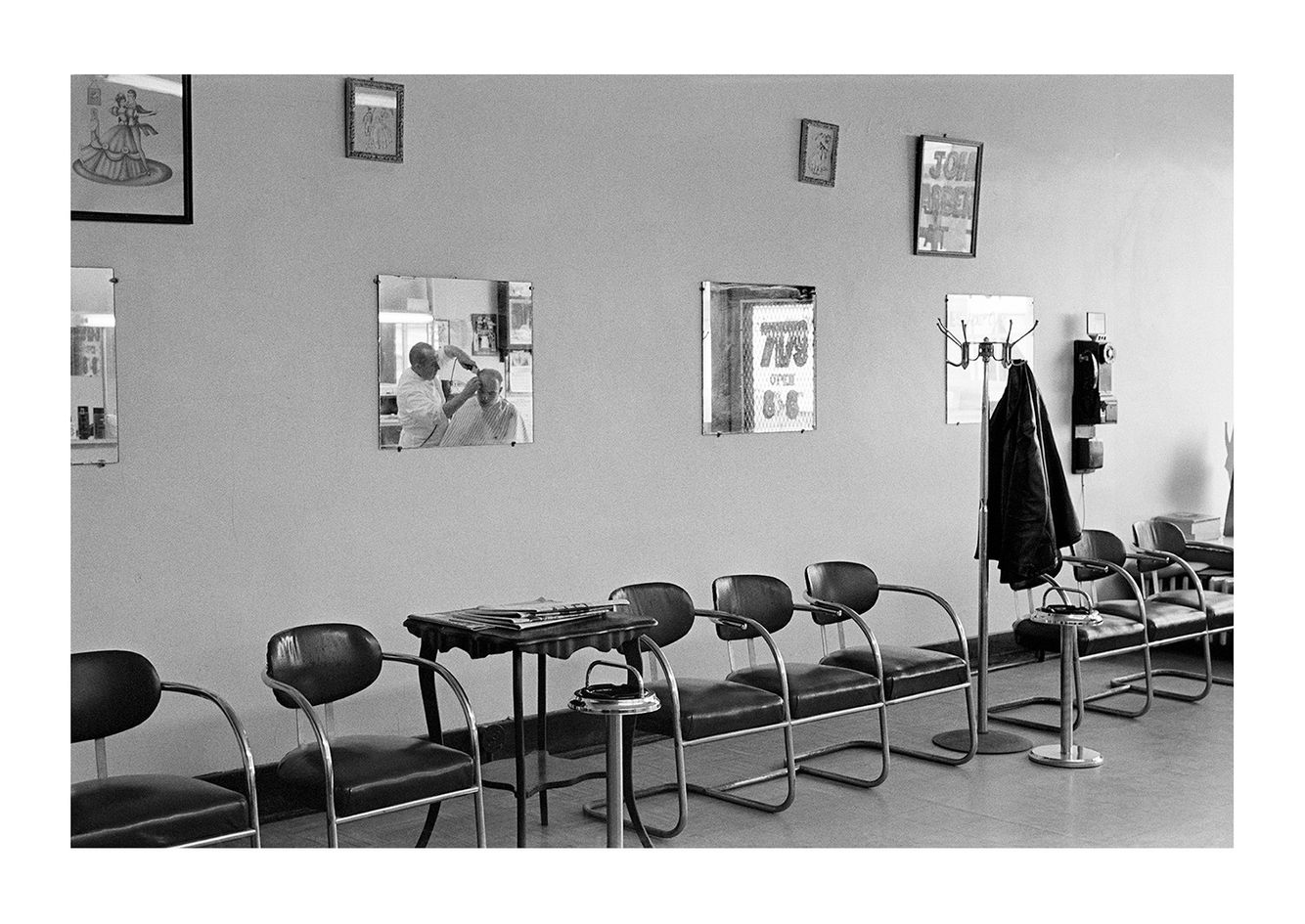 Interior View 2, Johns Barbershop, 7179 Michigan Avenue, Detroit 1972