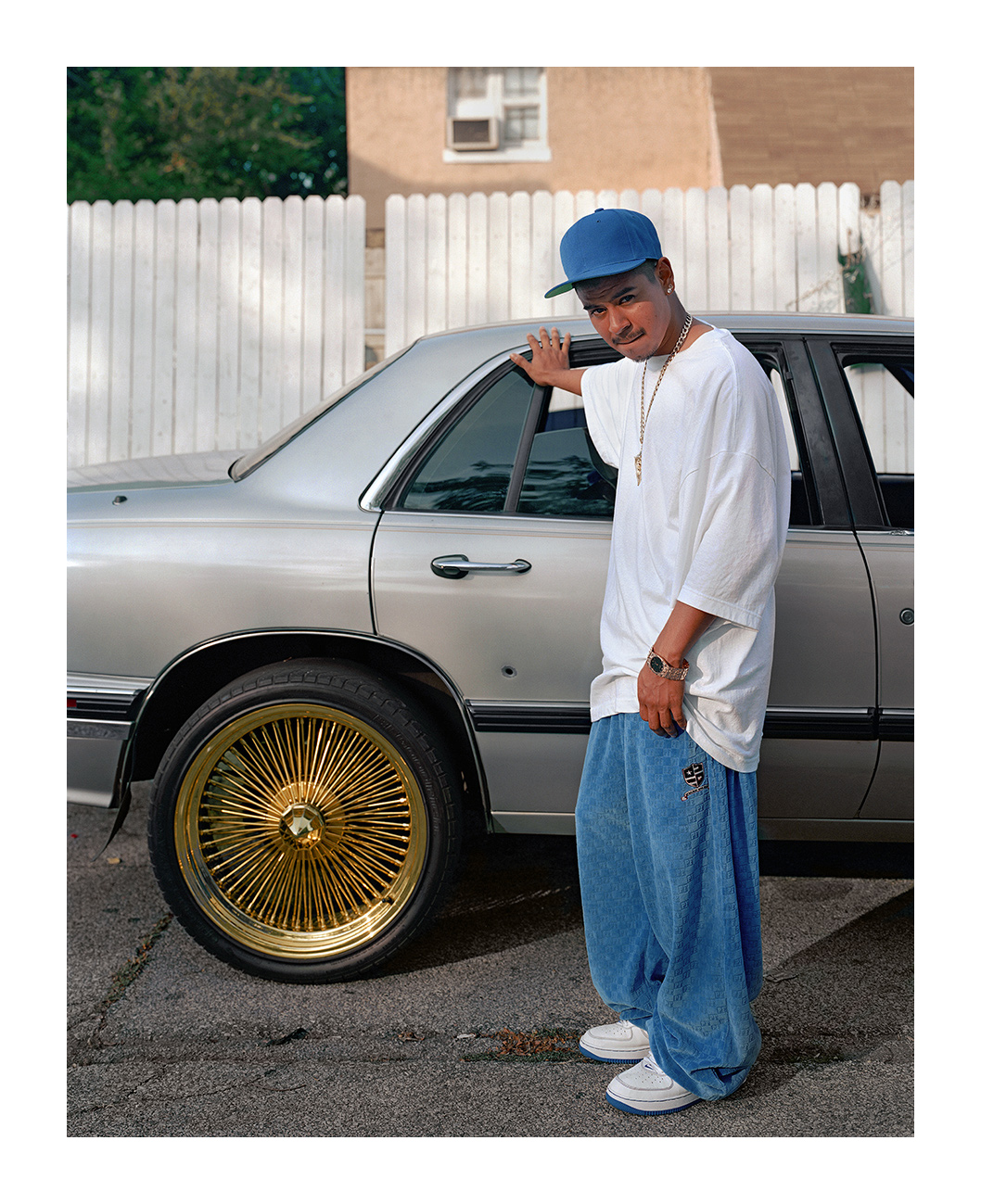 David Showing Bullet Hole in His Car, Marktown, East Chicago IN 2003