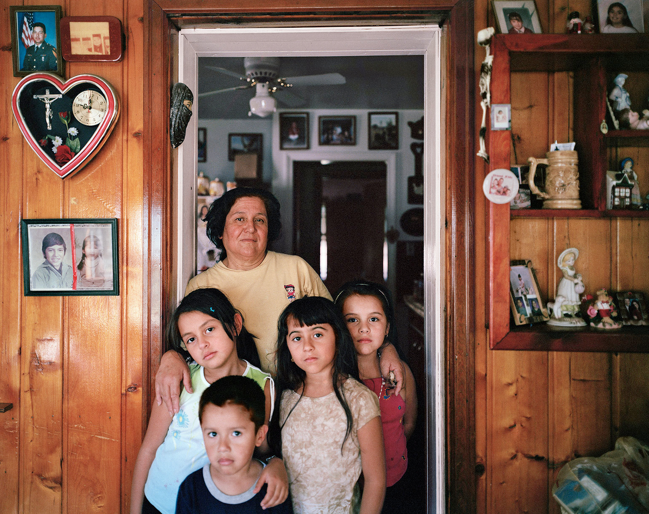 Clara with Grandchildren, Marktown, East Chicago IN 2003