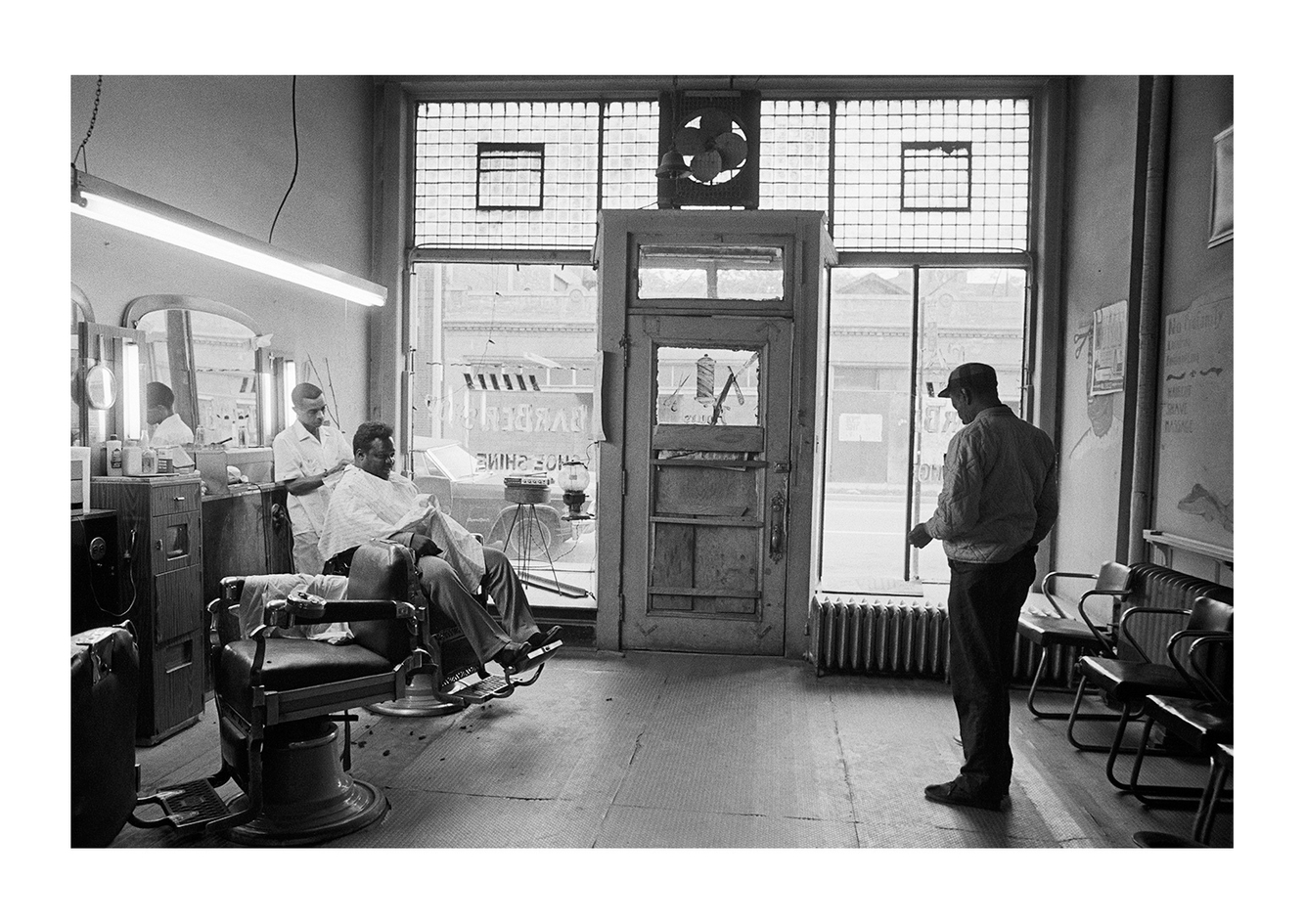 Interior View, Paul's Barbershop, 2611 John R, Detroit 1972