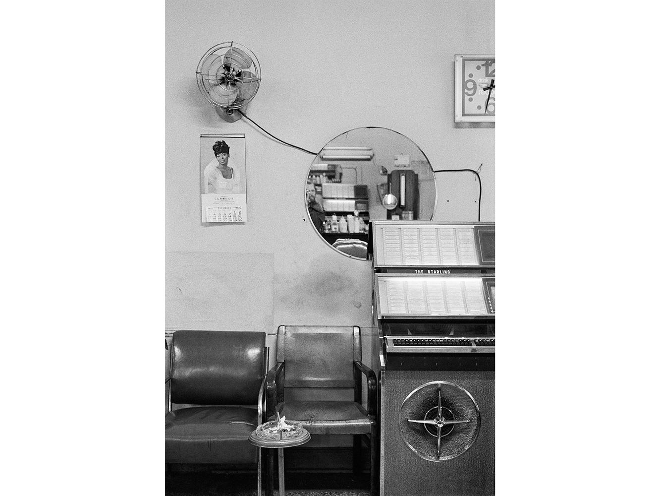 Interior View, Barbershop, Detroit 1972
