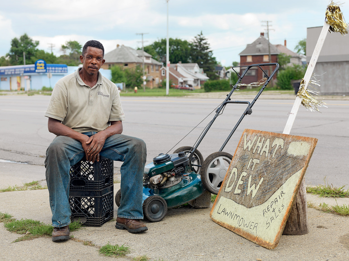 Gus, Lawnmower Repair Man, Gratiot Ave., Detroit 2011