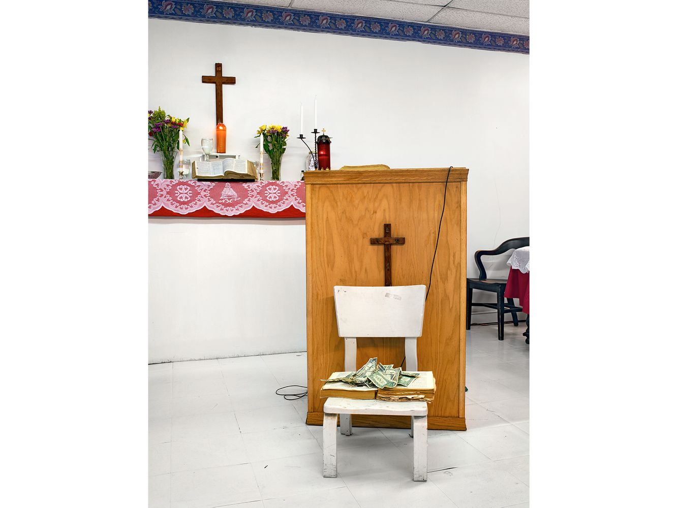 Offering Chair, Word of Truth Spiritual Church, 6246 S. St. Lawrence, Chicago 2006