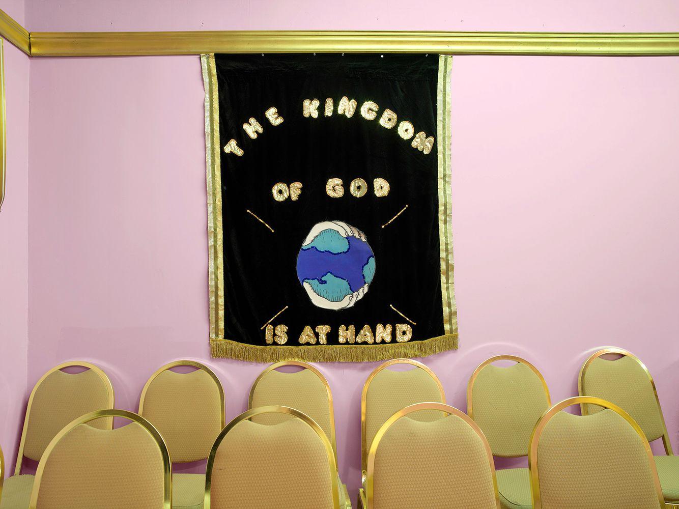Handmade Banner, New Birth International Outreach Ministries, 6500 S. Morgan, Chicago 2006