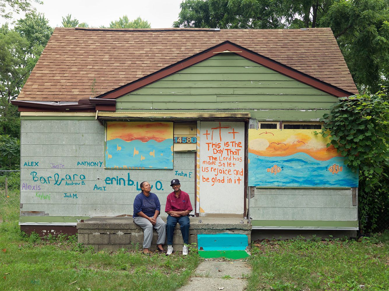 Jackie and Donny, Brightmoor Neighborhood, Detroit 2013