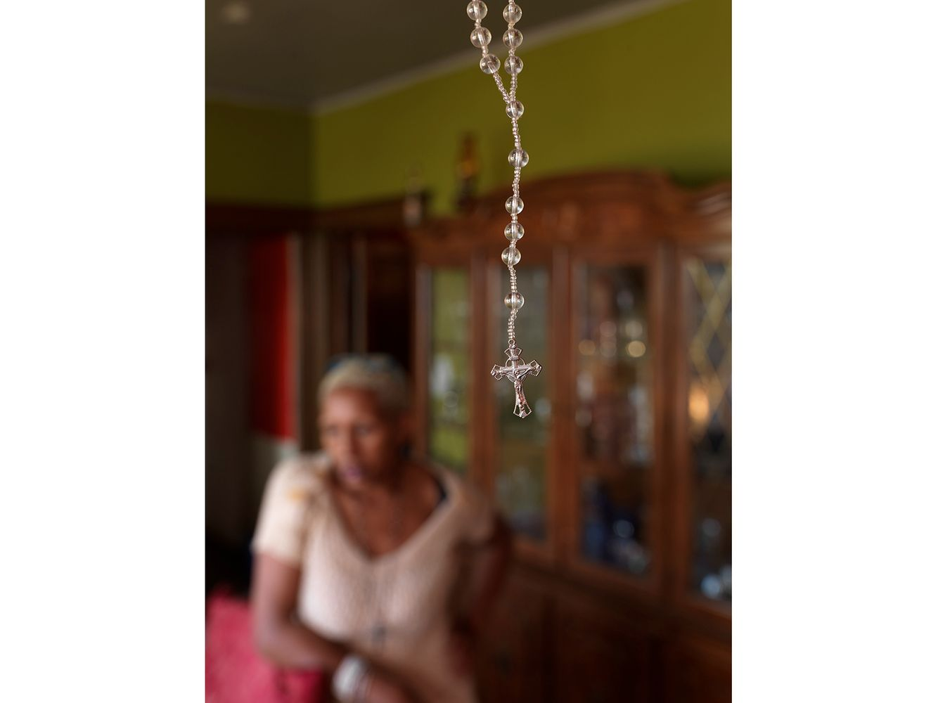 A Rosary Hanging in Kat's Living Room, Eastside, Detroit 2014