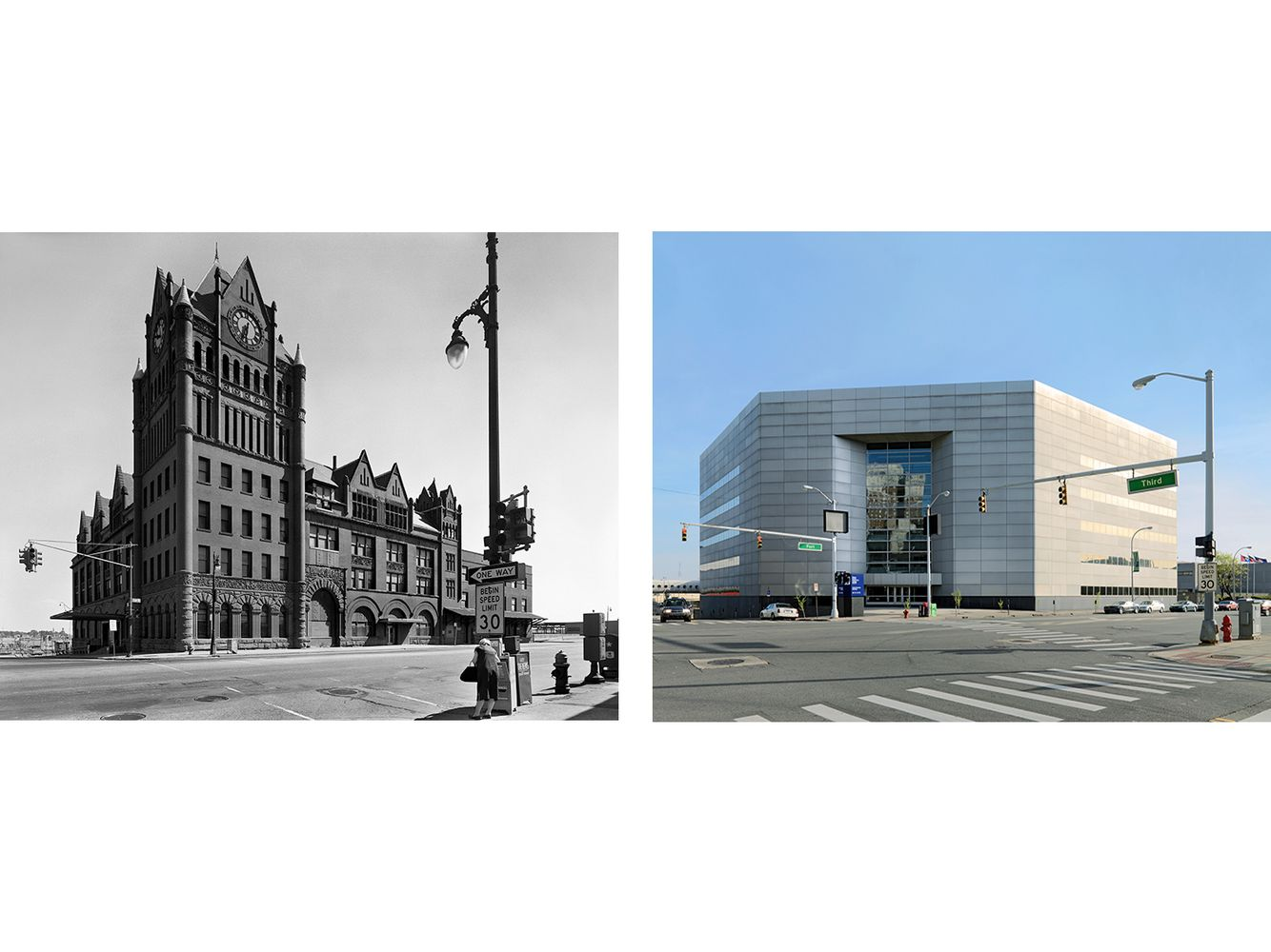 Corner of Fort and Third Street, Detroit 1973-2010