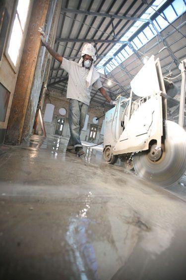 Concrete sawcutting process, Eastern Market renovation