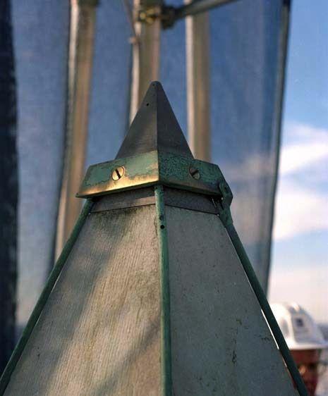 Detail of Washington Monument pinnacle, during restoration