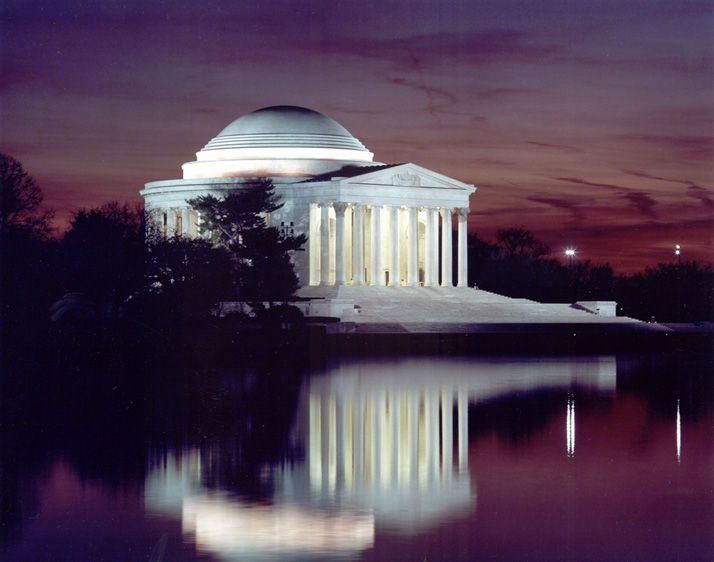Jefferson Memorial at sunset