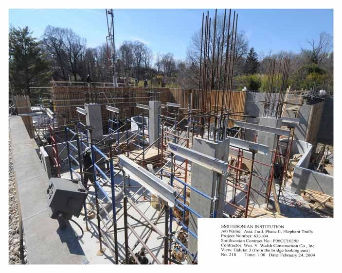 Construction progress print with caption lower right - View of Elephant Breeding Facility, National Zoo