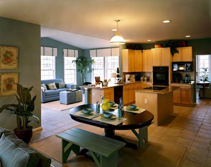 Kitchen/sunroom, Quail Ridge model home
