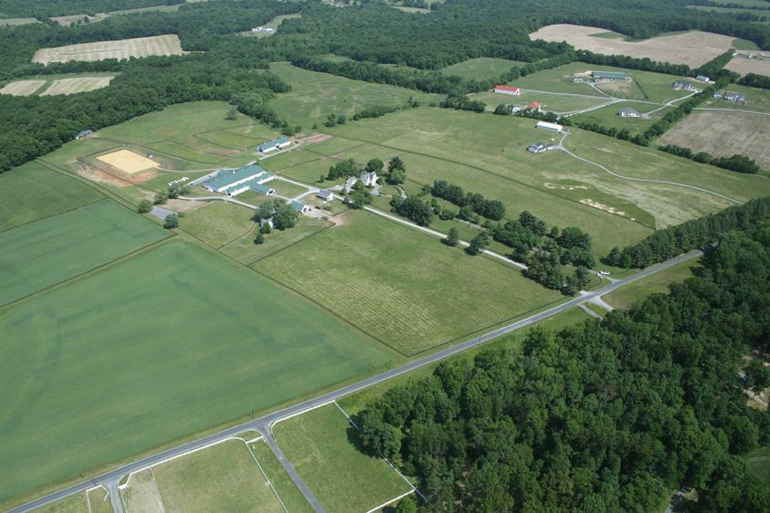 Aerial overview, Darnestown residence