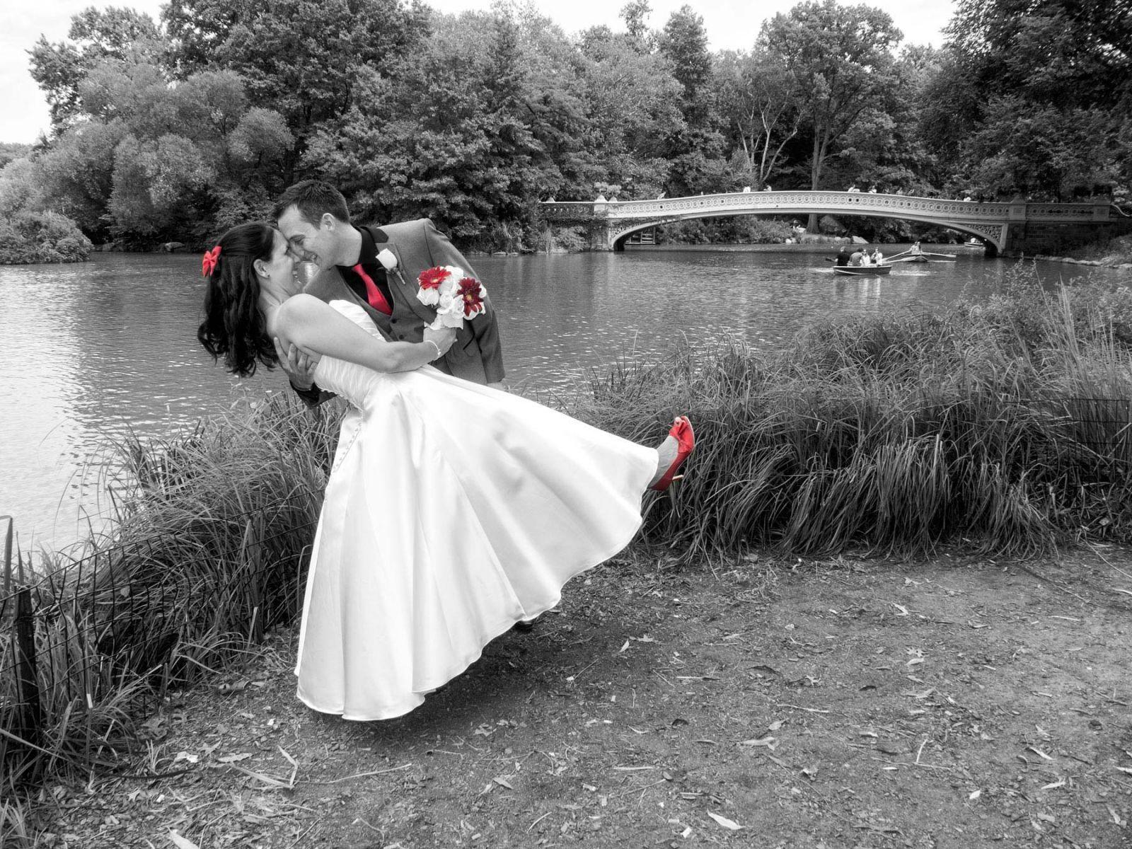 Summer Wedding B&W + Some Color