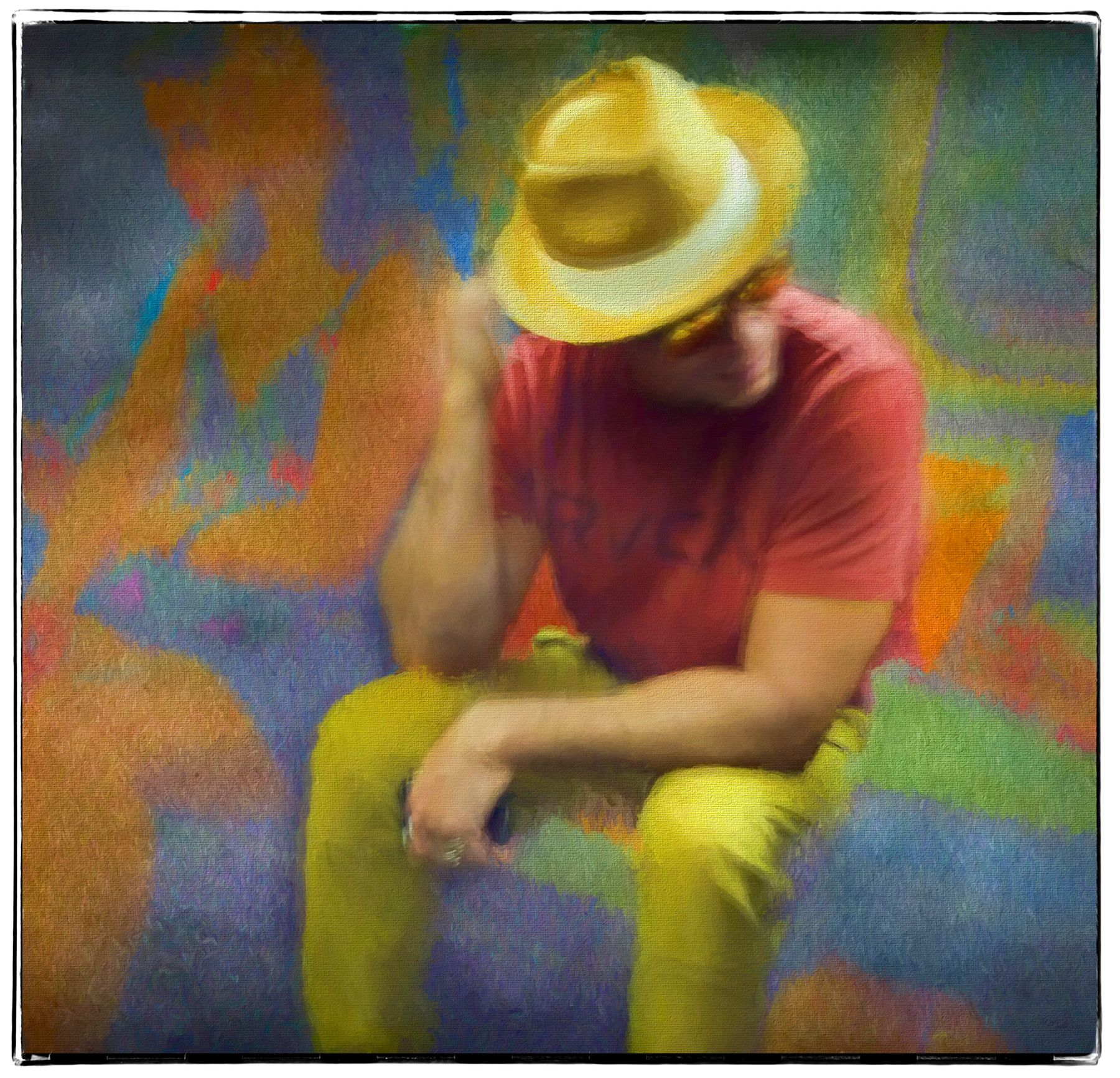 Man Wearing Yellow Hat