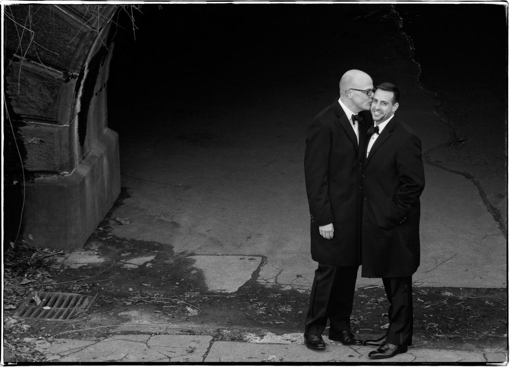 Grooms Special Moment In B&W