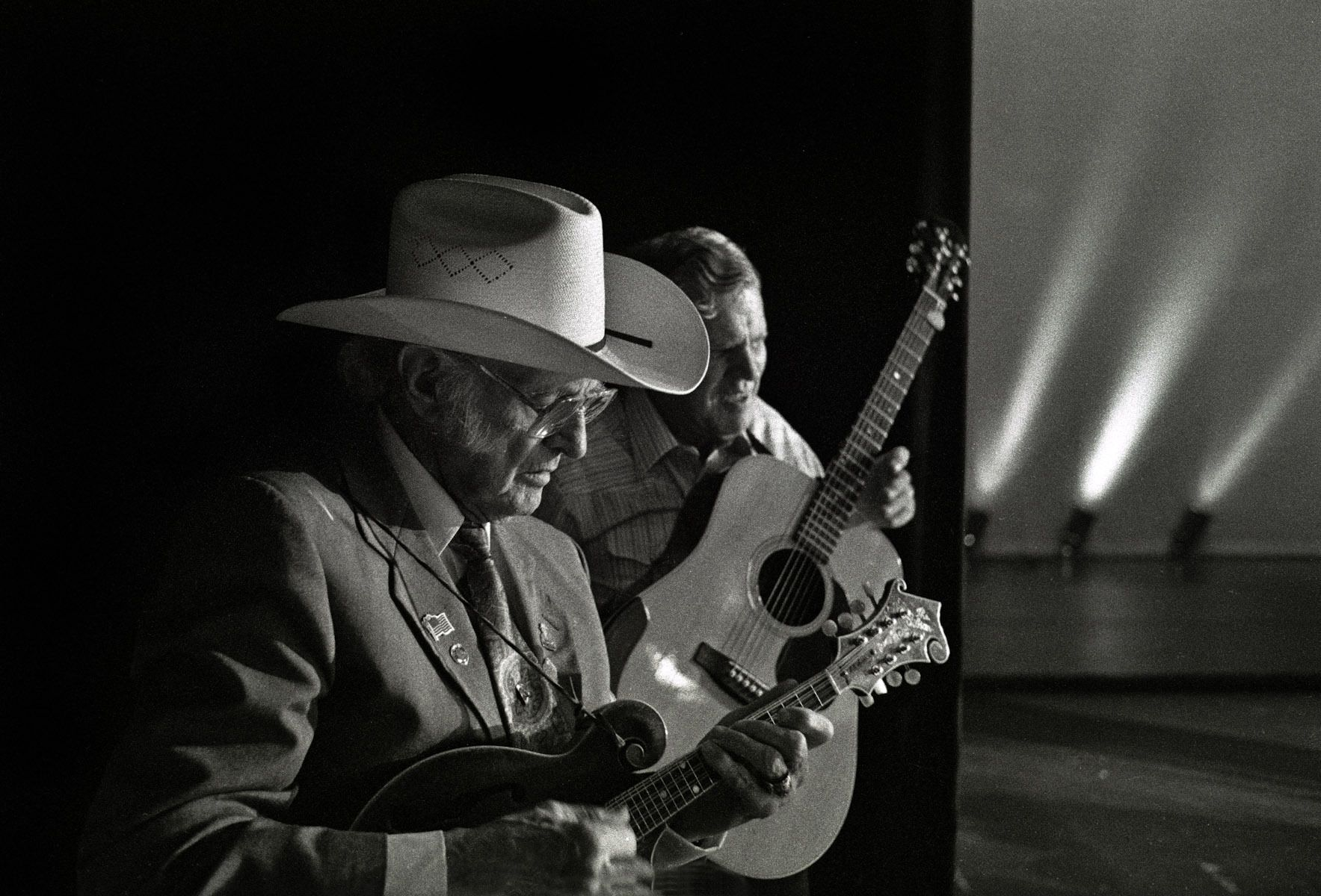 Bill Monroe and Doc Watson  8/22/92