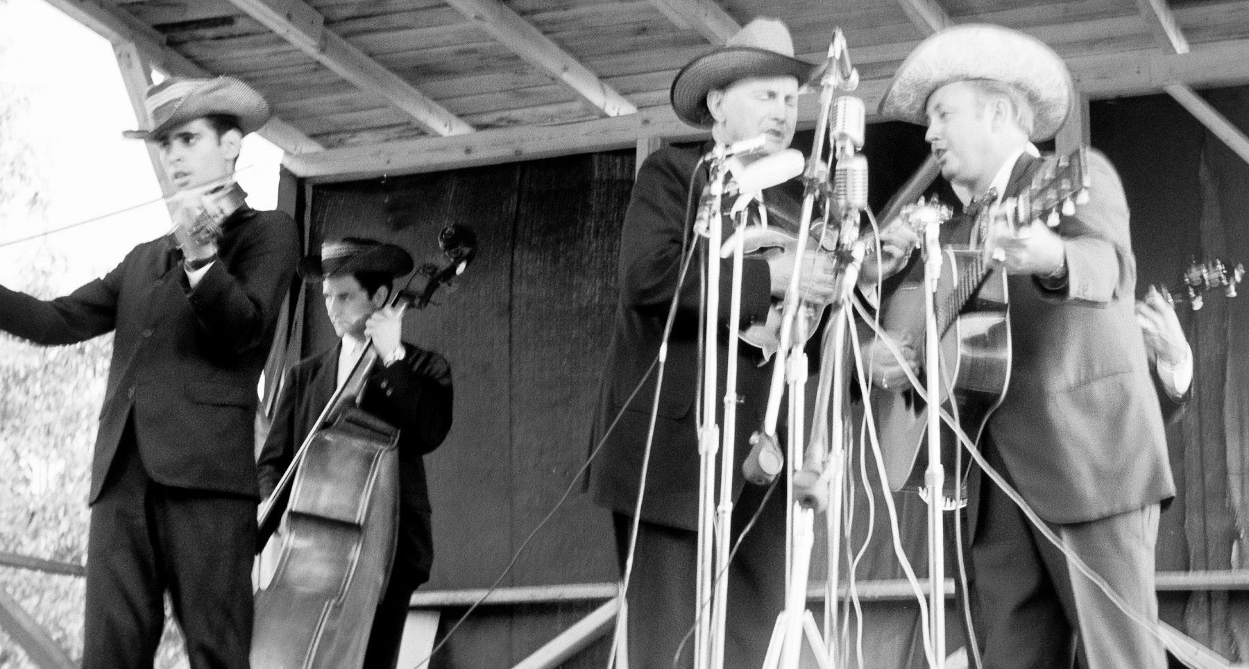Bill Monroe and Jimmy Martin at Roanoke, VA 1965
