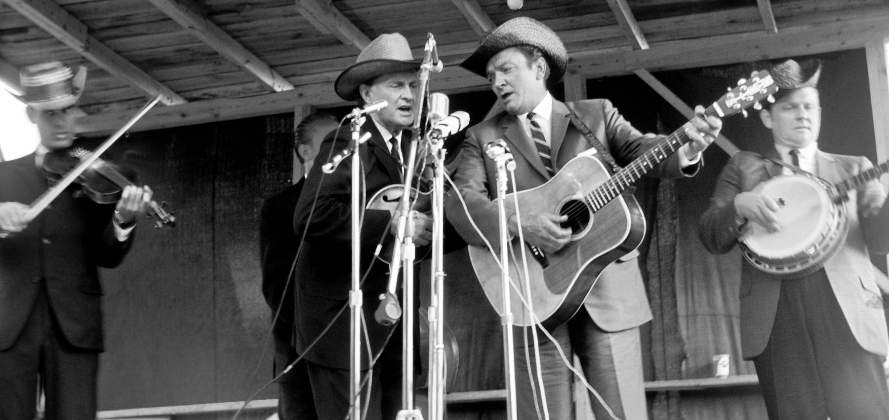 Bill Monroe and Carter Stanley at Roanoke Va, 1965