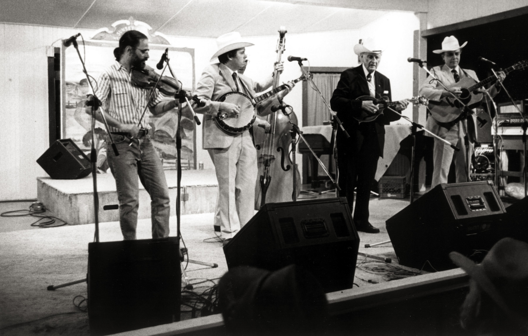 On Stage at Sunset Park, 1992