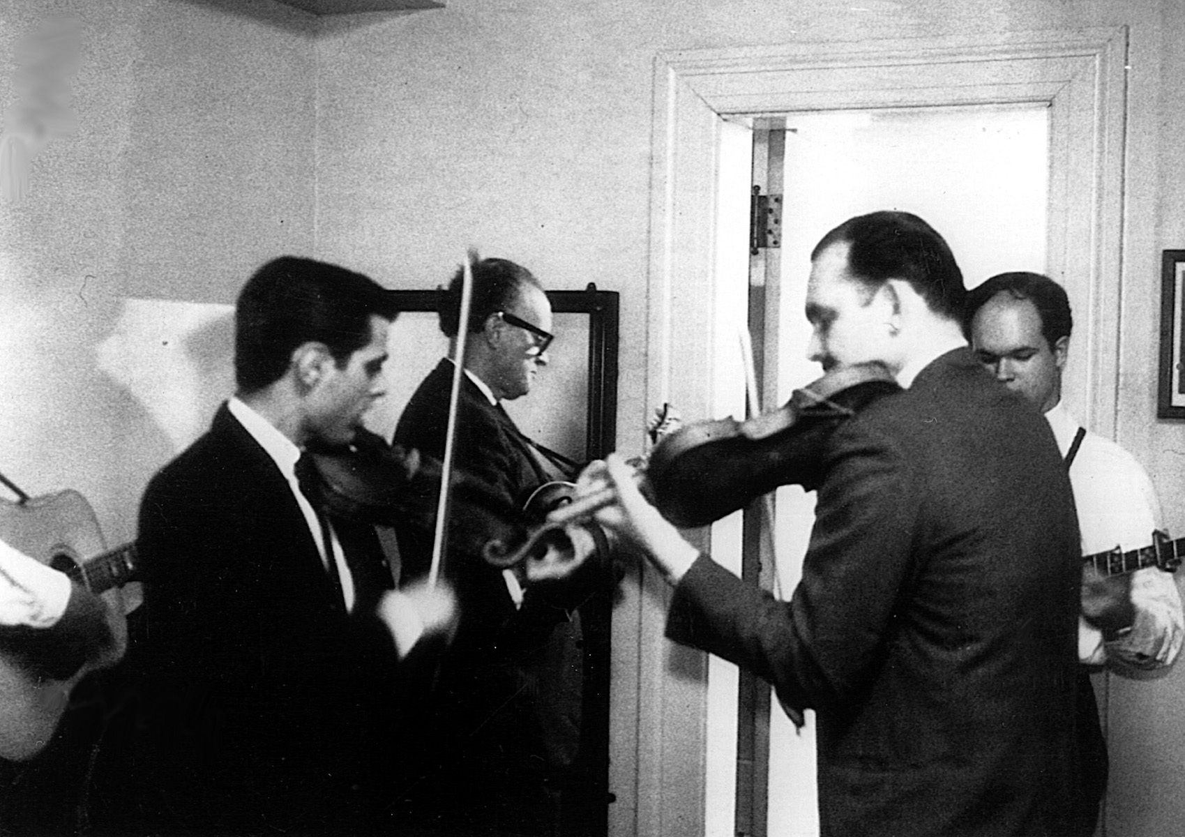 Backstage at Jordan Hall, Boston, 1964