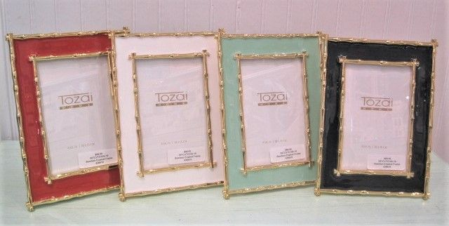 Bamboo Enamel Picture Frames