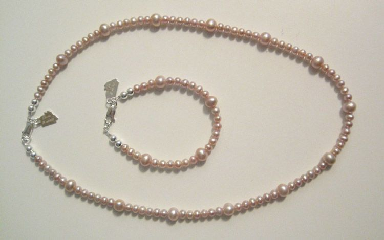 "All Pink Potato Pearls-5.5"" & 14"""